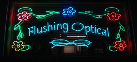 flushing optical sign